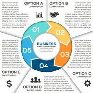 Vector circle arrows for business infographic