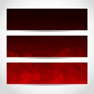 banners abstract red black