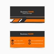 Business Card orange black background