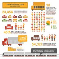 Transportation Infographics with people