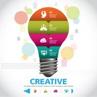 Creative BULB ICON WITH IDEA CONCEPT INFO GRAPHIC
