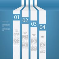Infographics menu vector design with four options