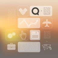 Abstract business infographic with unfocused background