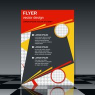 Business flyer template magazine