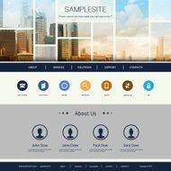 Website Template buildings
