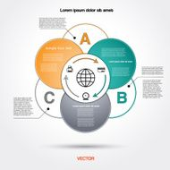Diagram circle infographic for business project workflow