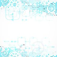 Abstract technology business white blue background