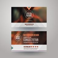 Vector template business cards with grey background