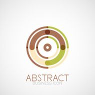 Symmetric abstract geometric shape Business icon
