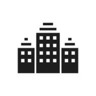 Office Building icon on a white background