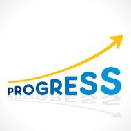 creative progress word growth graph vector