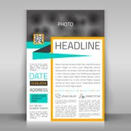 Business flyer template magazine design