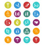 Business persons and users icon set