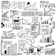 Doodle hand drawn infographic elements set 2 Vector illustration