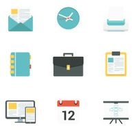 Flat Business icons N2
