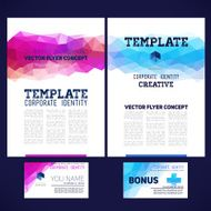 Abstract vector template design brochure