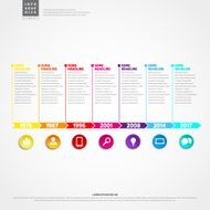 Timeline Infographic With set of Icons Vector design template