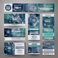 Vector Corporate identity templates N3