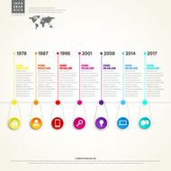 Timeline Infographic With set of Icons Vector design template N2