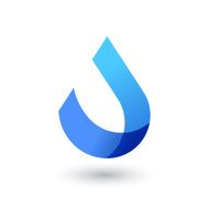 Vector logo design template Abstract blue water drop wave shape