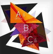 Infographic abstract background with options N3