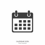 Calendar icon in Flat design style Vector