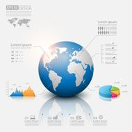 Modern infographic global template Vector