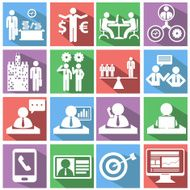 Human resources and management icons set N4