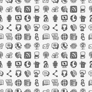 seamless doodle communication pattern N2