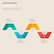 modern vector abstract step lable infographic elements N2
