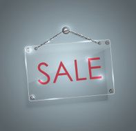 Sale signs with bright frame digital hanging chain