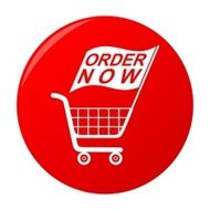 Buy Now Red Sticker Shopping Cart