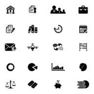 Business and finance icons set N2