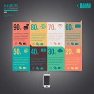 Infographic Mobile elements