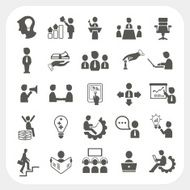 Management and Business icons set N2