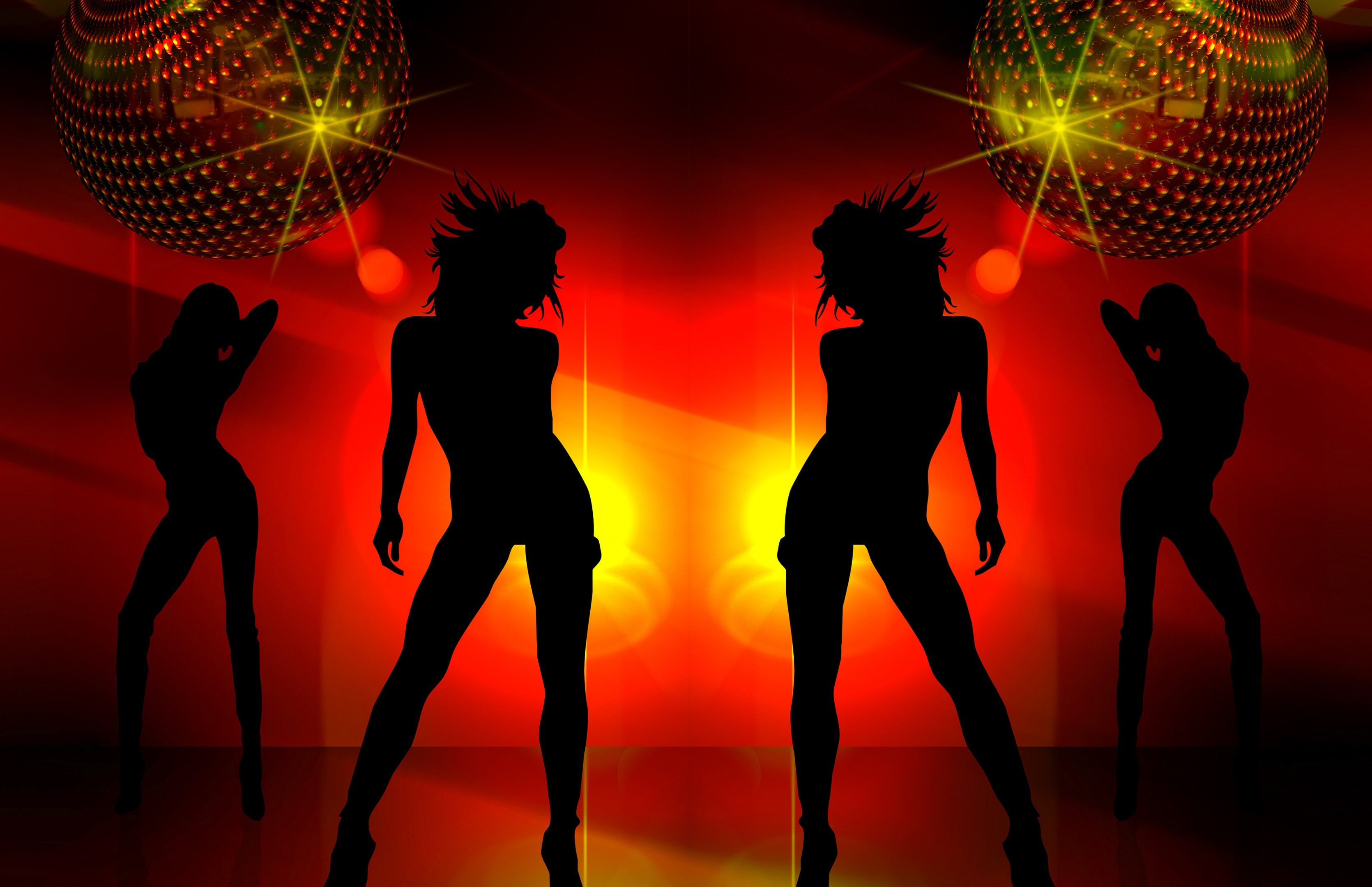 Silhouette of girls dancing on video — pic 5