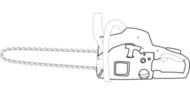 chainsaw tool equipment drawing