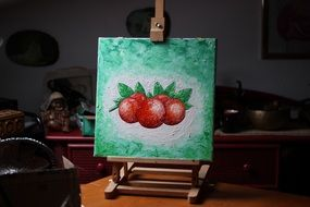 fruit painting on canvas