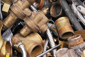 scrap brass waste metal steel