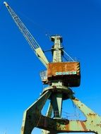 load crane in a harbour
