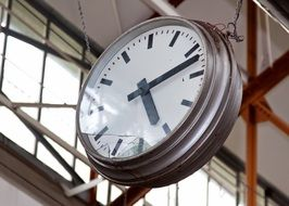clock in factory hall