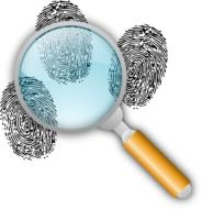 Looking on clues with the magnifying glass
