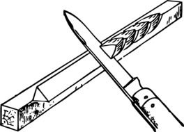 knife wood drawing