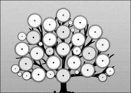 Clipart of gears tree