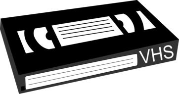 vhs tape movie drawing