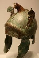 antique bronze helmet
