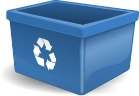 recycling container drawing