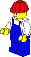 lego man toy drawing