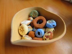 arts and crafts, colorful ceramic beads