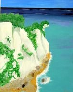 Beautiful painting of White Cliffs clipart